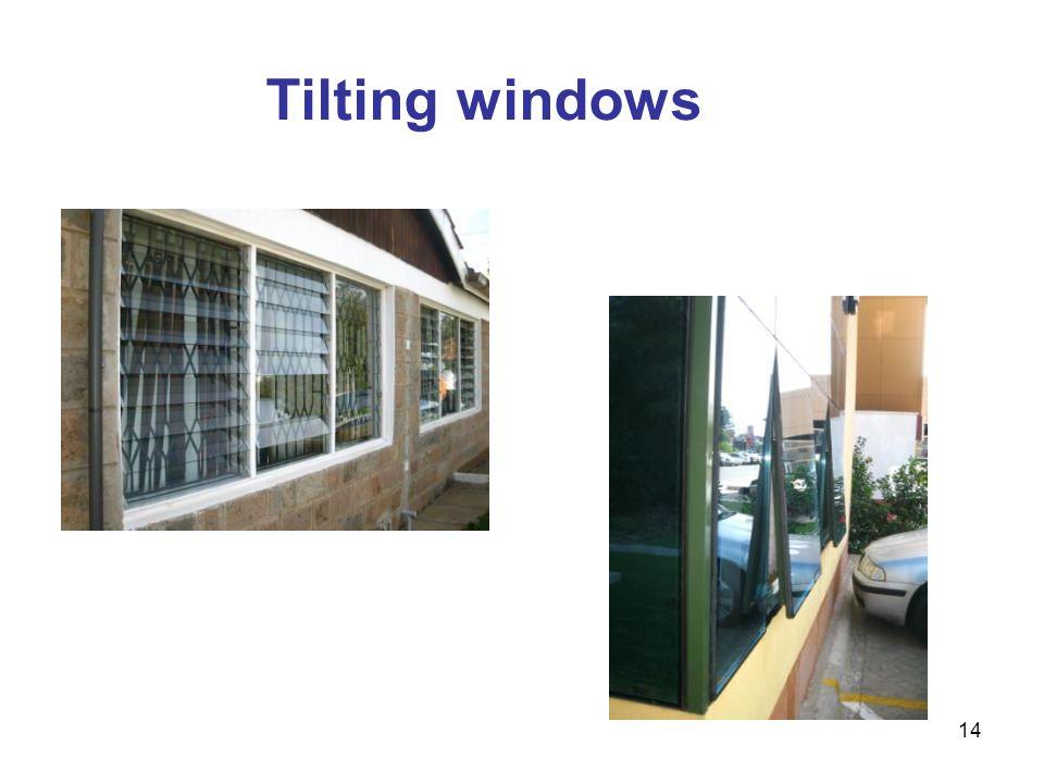 Tilting windows Tilting windows (horizontal) 14