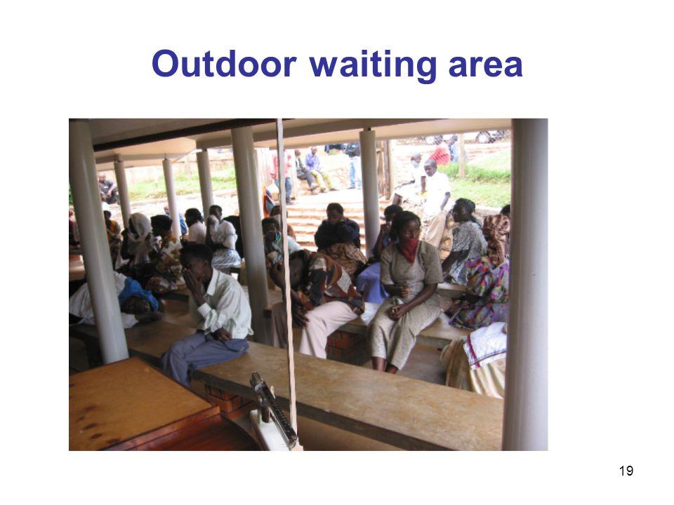 Outdoor waiting area 19