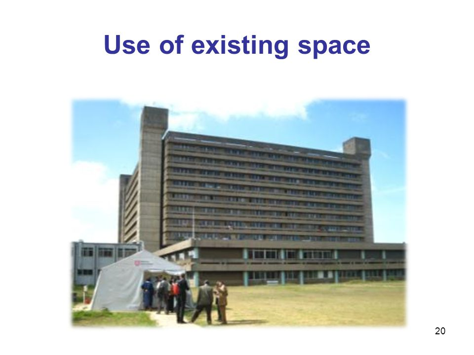 Use of existing space 20