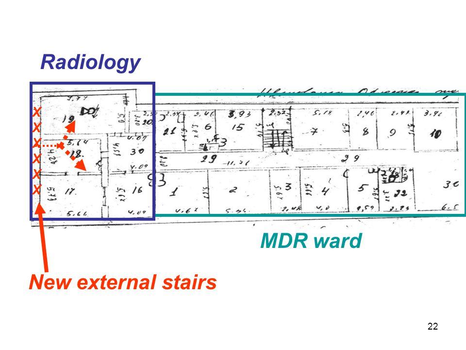 Radiology MDR ward XXXXXXXXXXXX New external stairs 22
