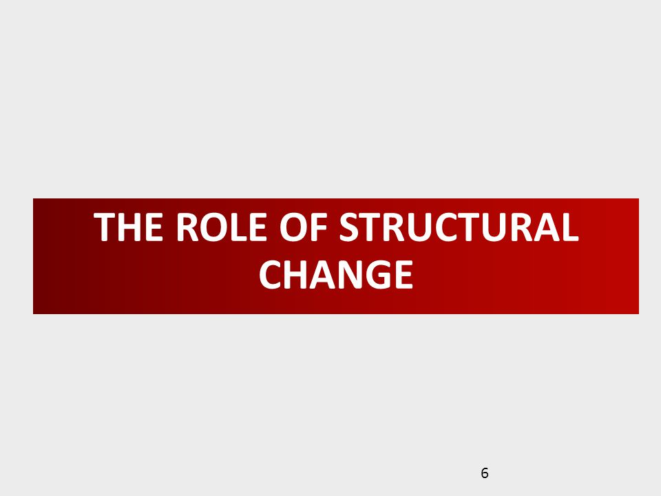 THE ROLE OF STRUCTURAL CHANGE 6