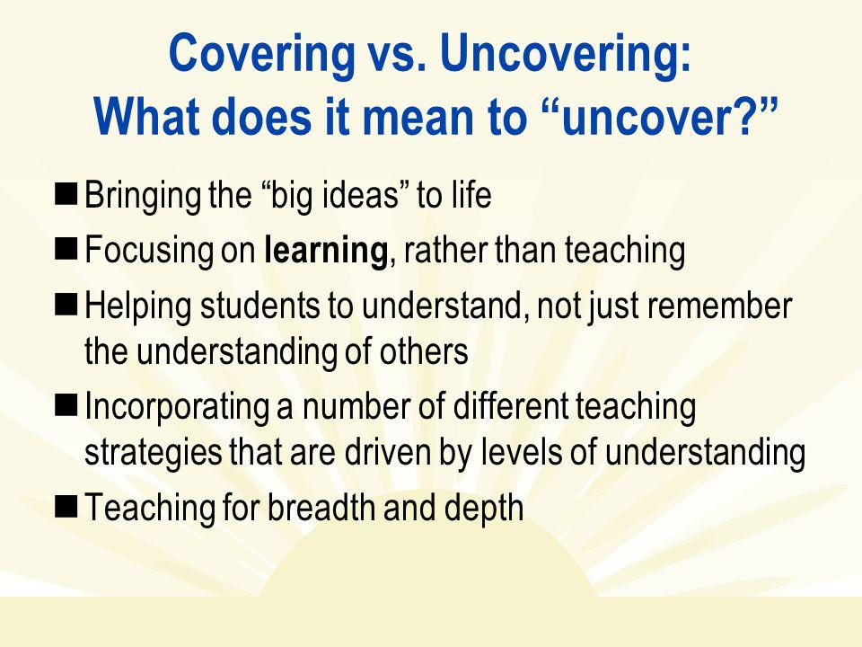 Covering vs.