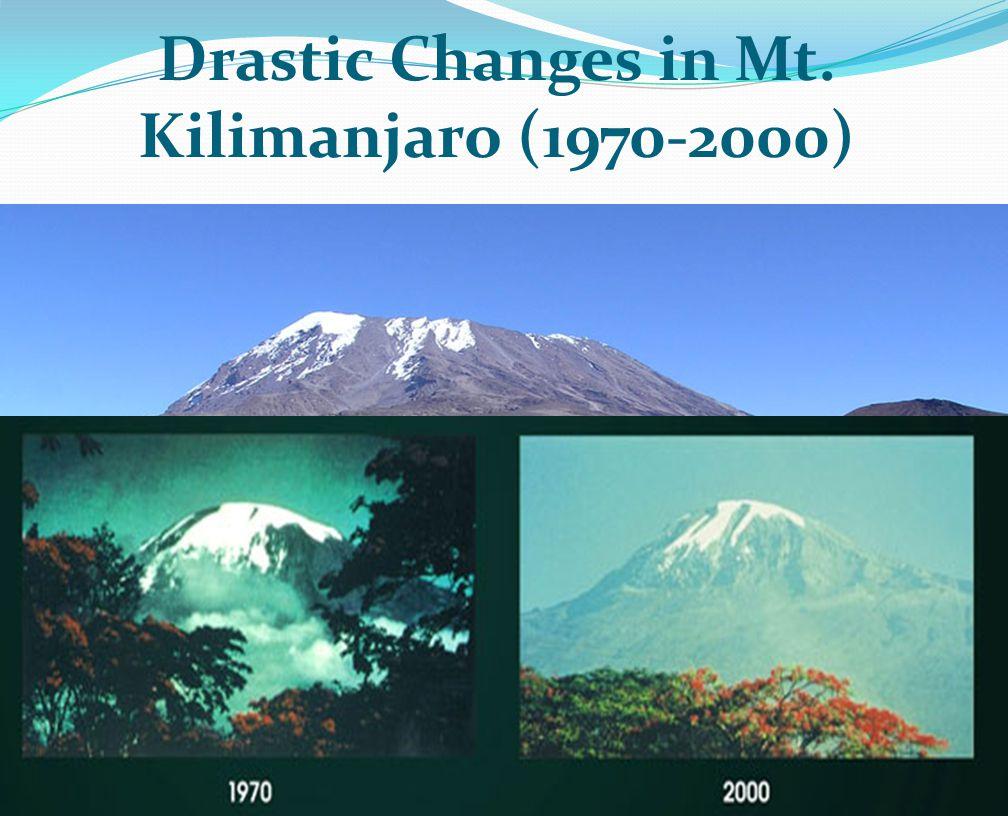 Drastic Changes in Mt. Kilimanjaro (1970-2000)