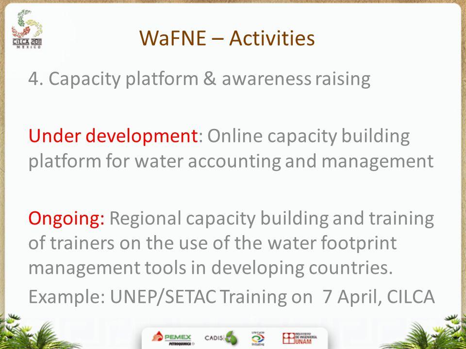 WaFNE – Activities 4.