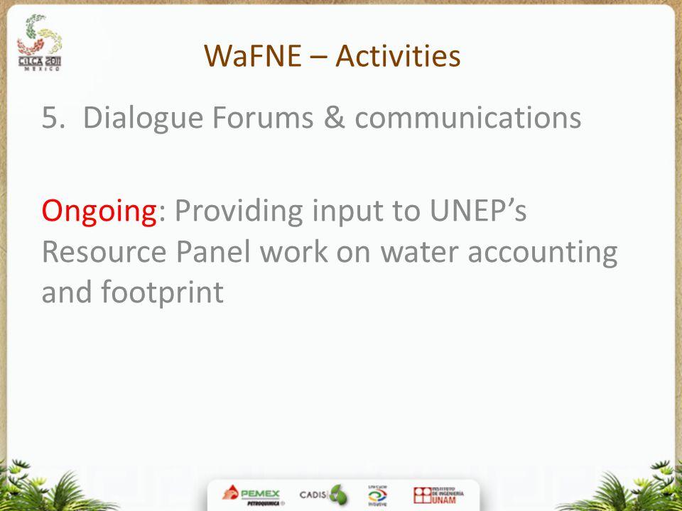 WaFNE – Activities 5.