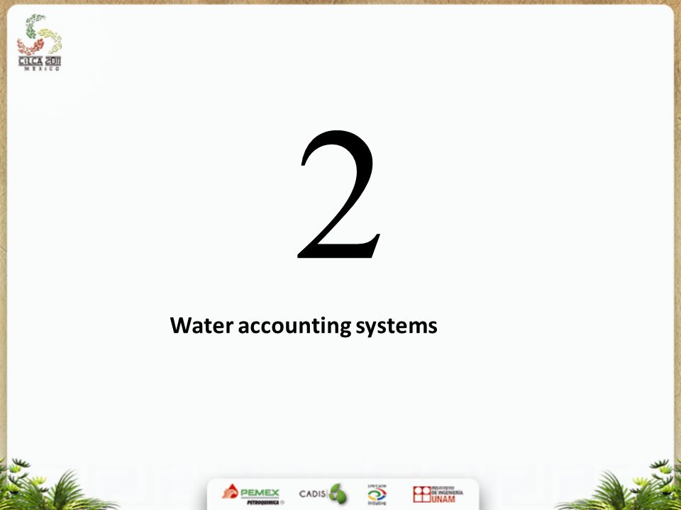 Water accounting systems 2
