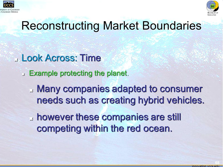 innovation.uccs.edu B ACHELOR OF I NNOVATION ™ innovation.uccs.edu B ACHELOR OF I NNOVATION ™ Reconstructing Market Boundaries Look Across: Time Examp