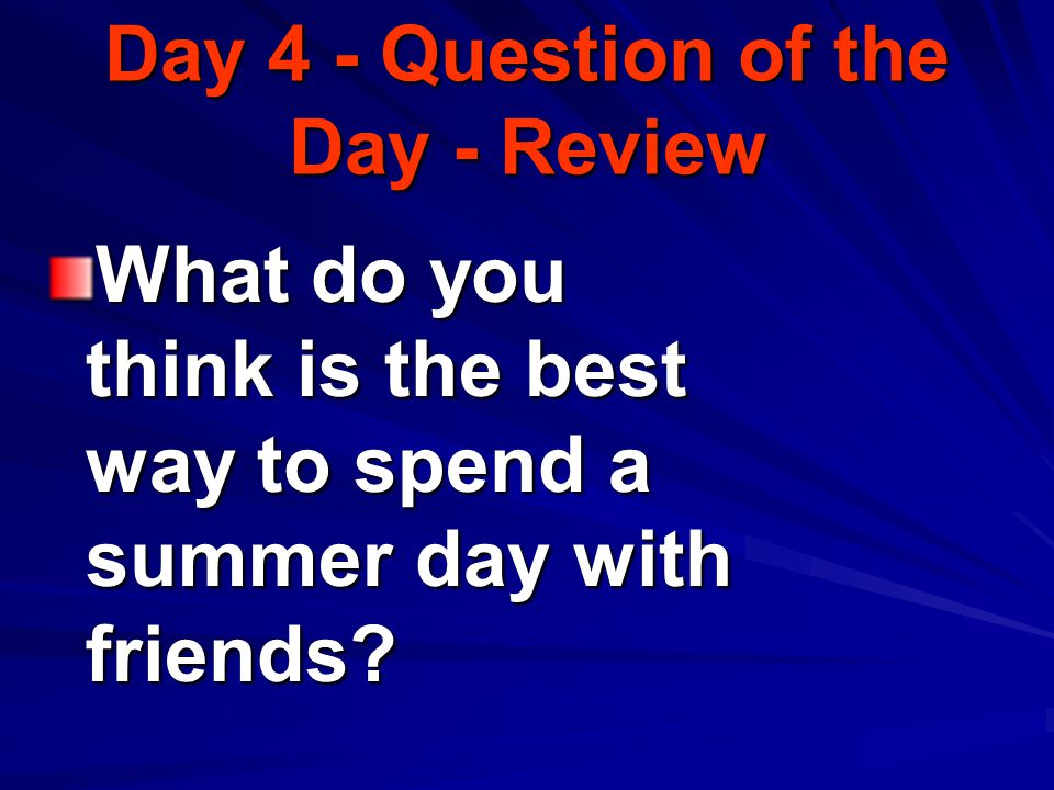 How did using her imagination affect Mrs. Myerson Day 3 - Question of the Day