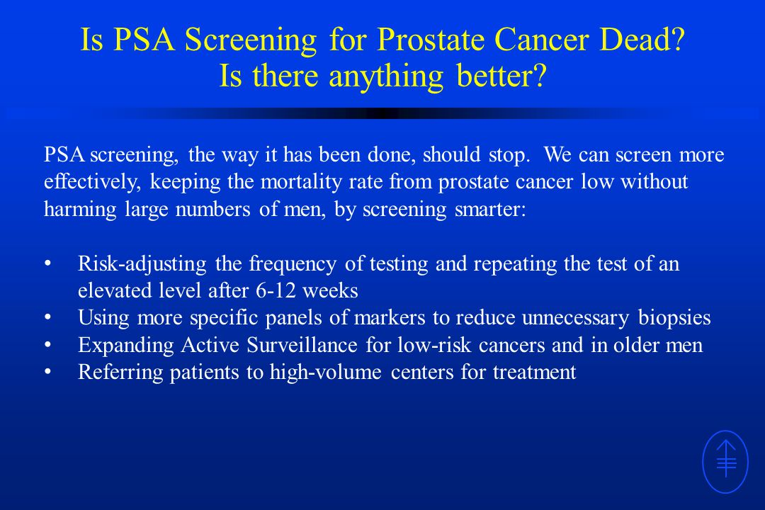 Is PSA Screening for Prostate Cancer Dead. Is there anything better.