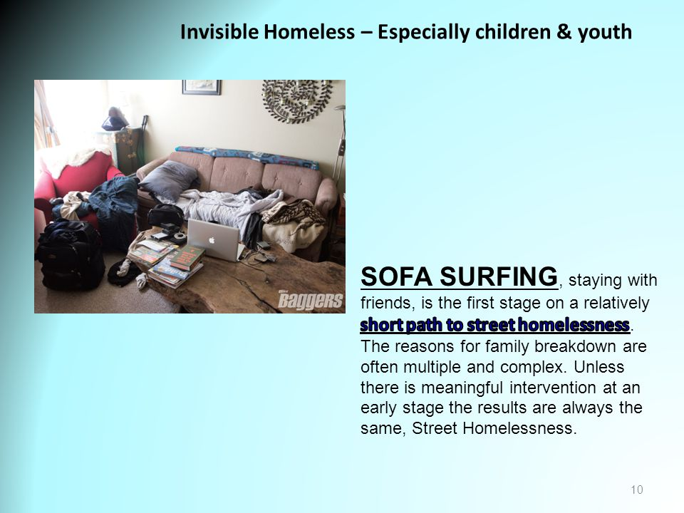 10 Invisible Homeless – Especially children & youth