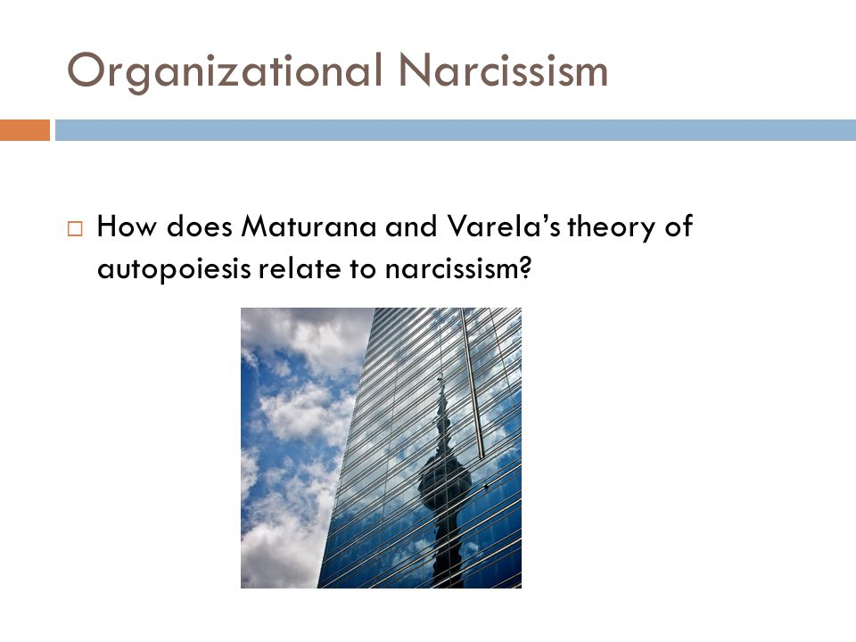 Organizational Narcissism  How does Maturana and Varela's theory of autopoiesis relate to narcissism?