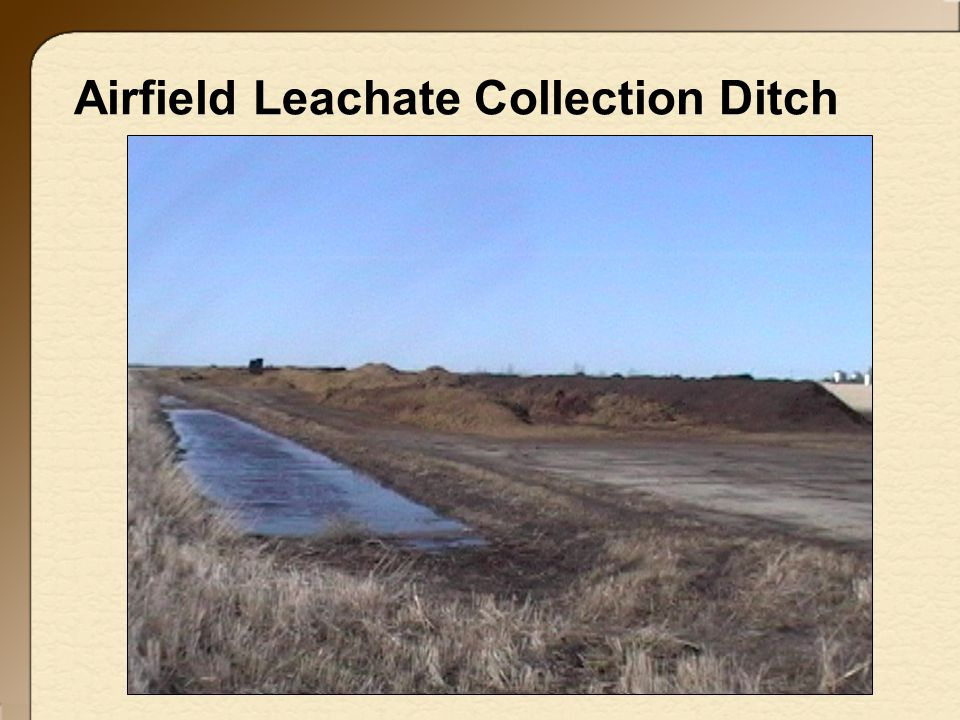 Airfield Leachate Collection Ditch