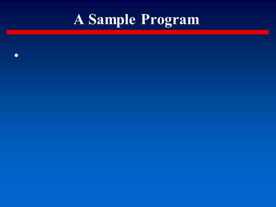 A Sample Program