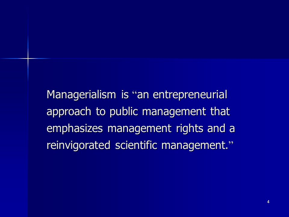 15 Entrepreneurialism Entrepreneurialism calls for: Entrepreneurialism calls for: Management By Objectives (MBO): An approach to managing, the hallmark of which is a mutual setting – by both organizational subordinate and superior – of measurable goals to be accomplished by an individual or a team over a set period of time.