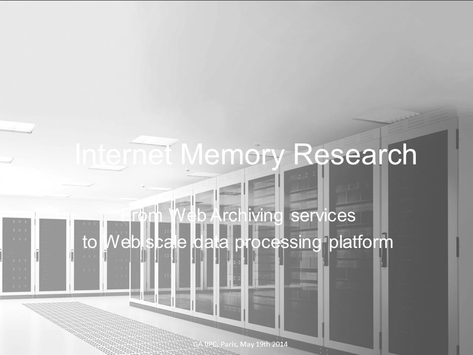 Search in your Large Corpus o Full text Index with Elastic Search o Automated categorization (News, Forums, Blogs,...) o Semantic expansion o TopicMatching Internet Memory Research12