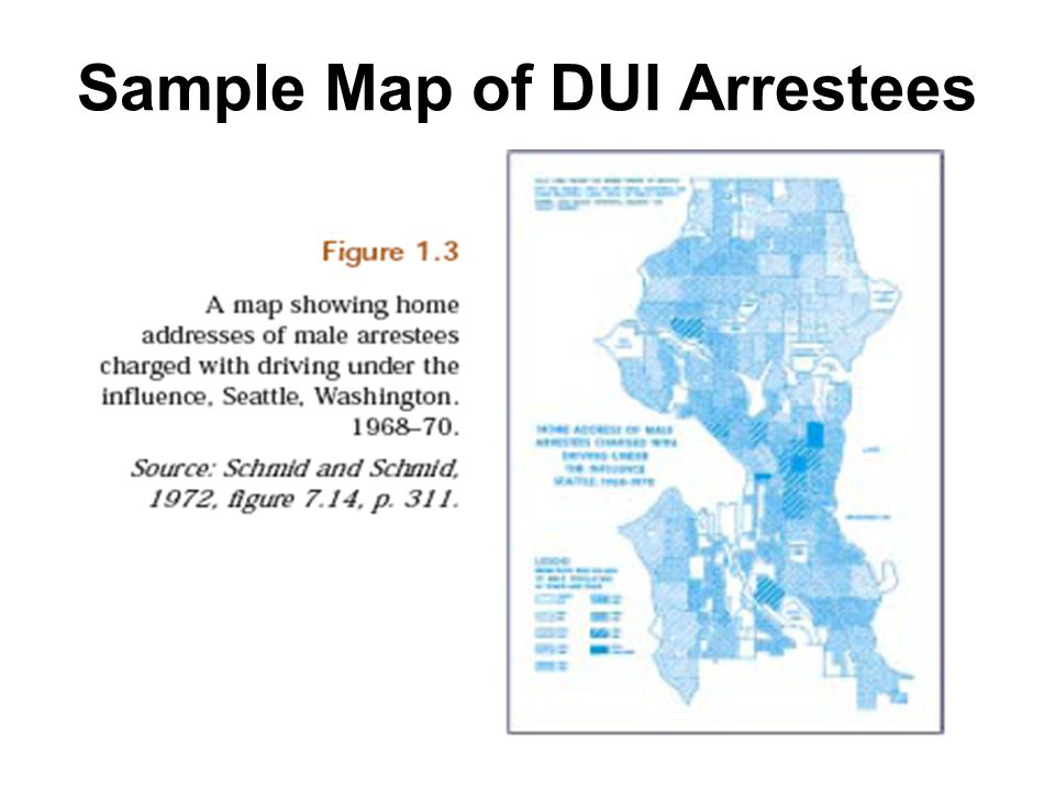 29 Sample Map of DUI Arrestees