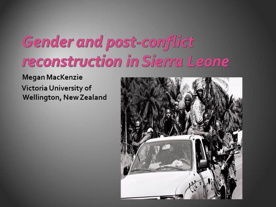 Megan MacKenzie Victoria University of Wellington, New Zealand