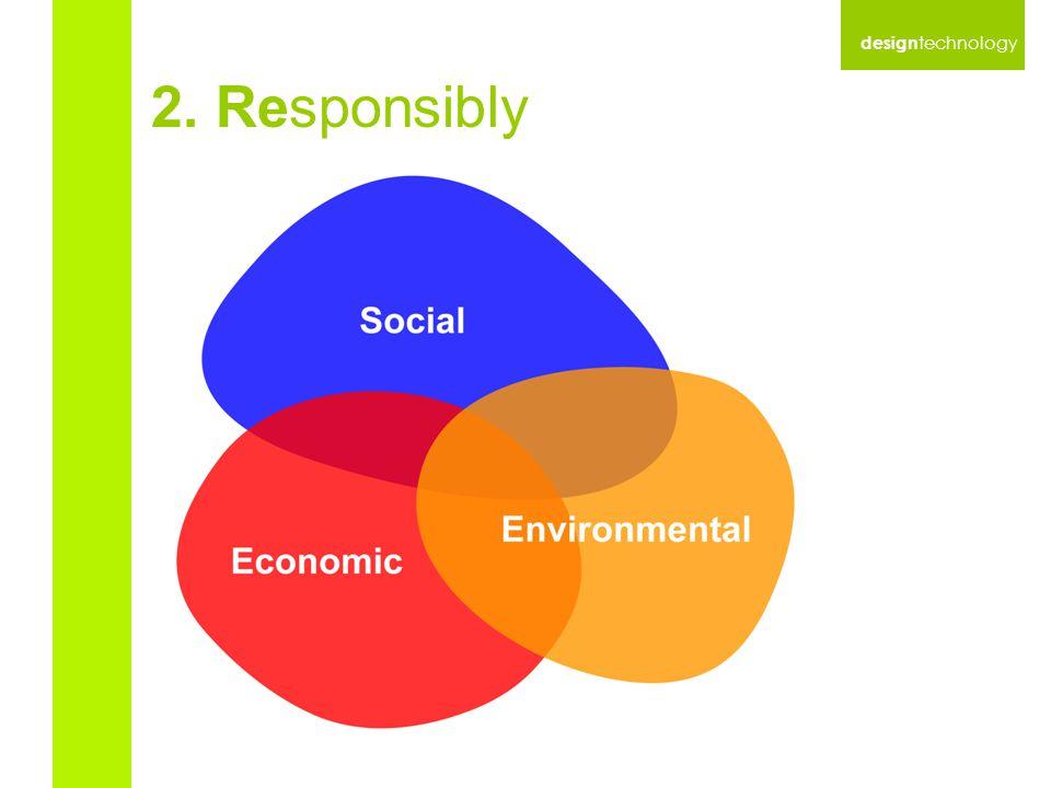 design technology 2. Responsibly