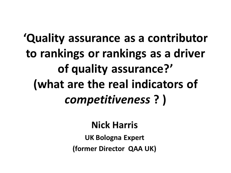 rankings certainly do not reflect the interests of all, but..