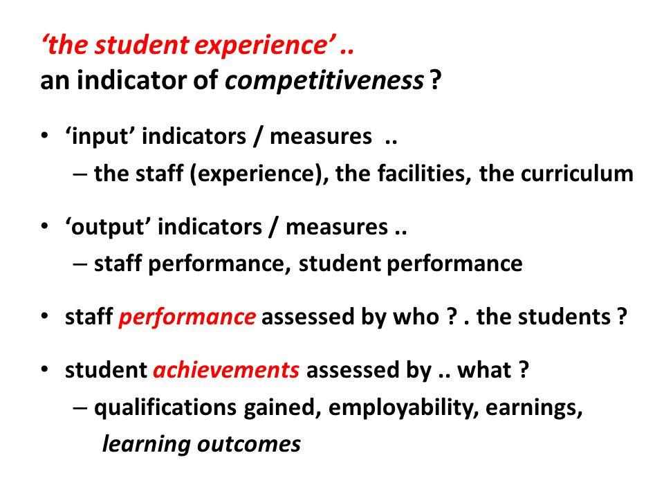 assessing institutions..