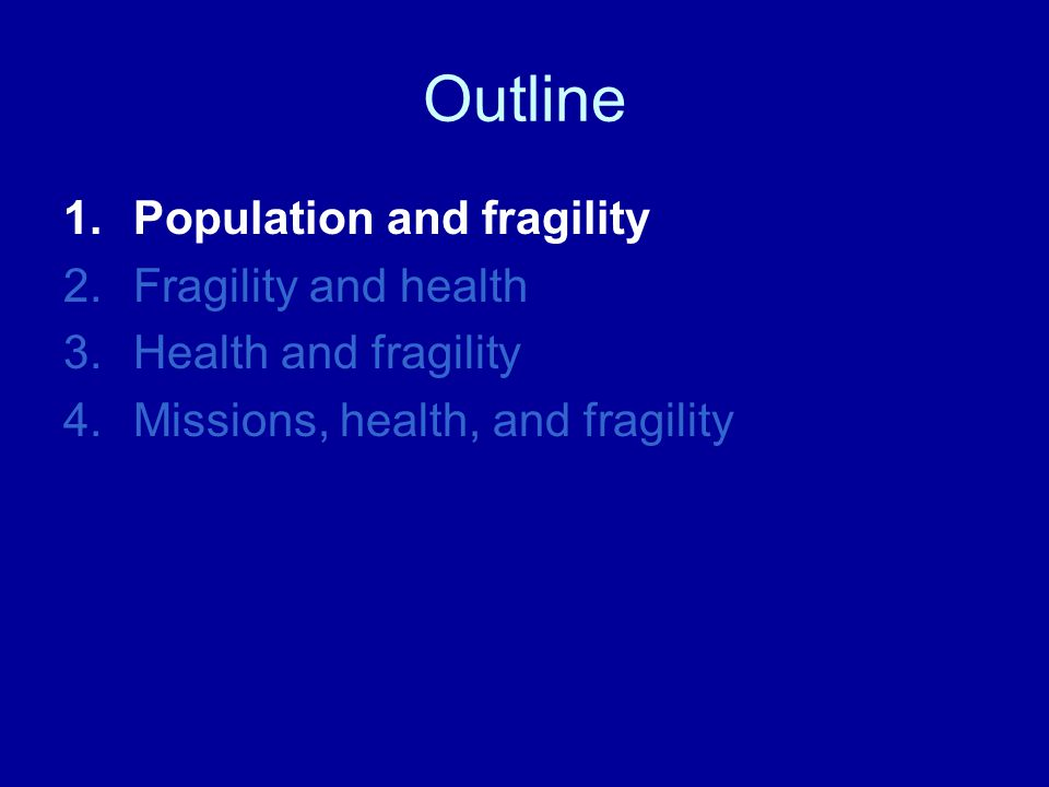 How health affects fragility No services is a big part of fragility