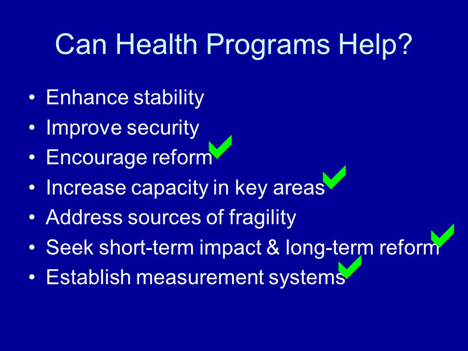 Can Health Programs Help.