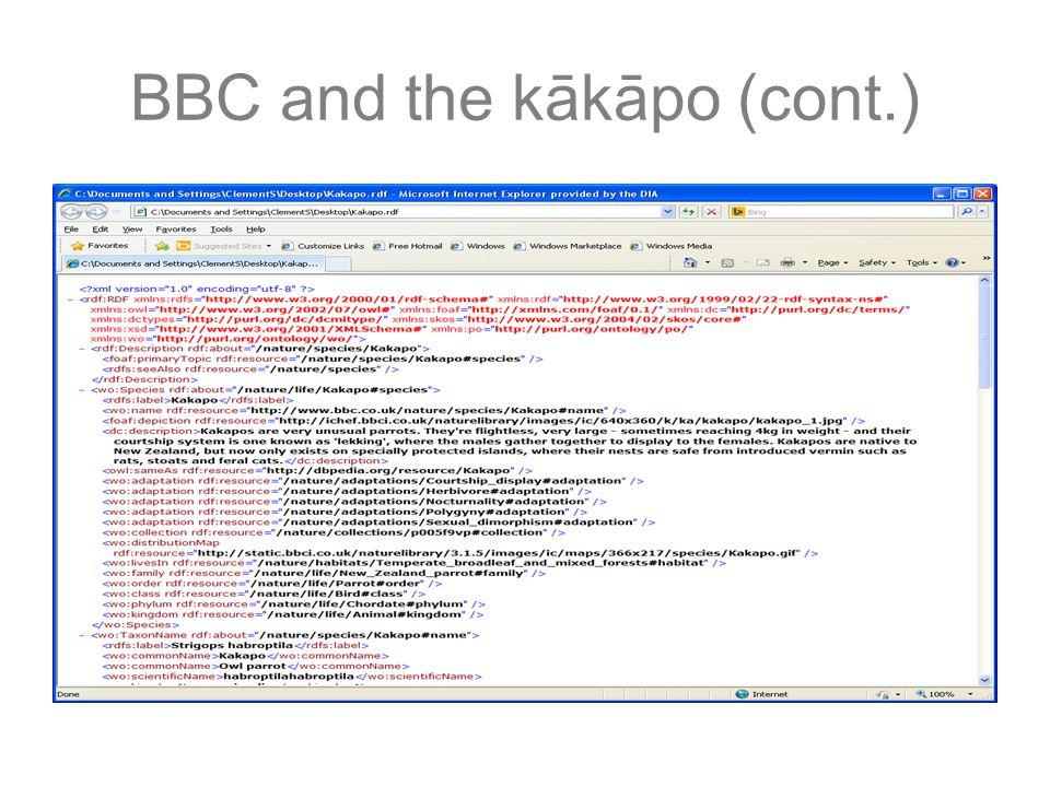 BBC and the kākāpo (cont.)