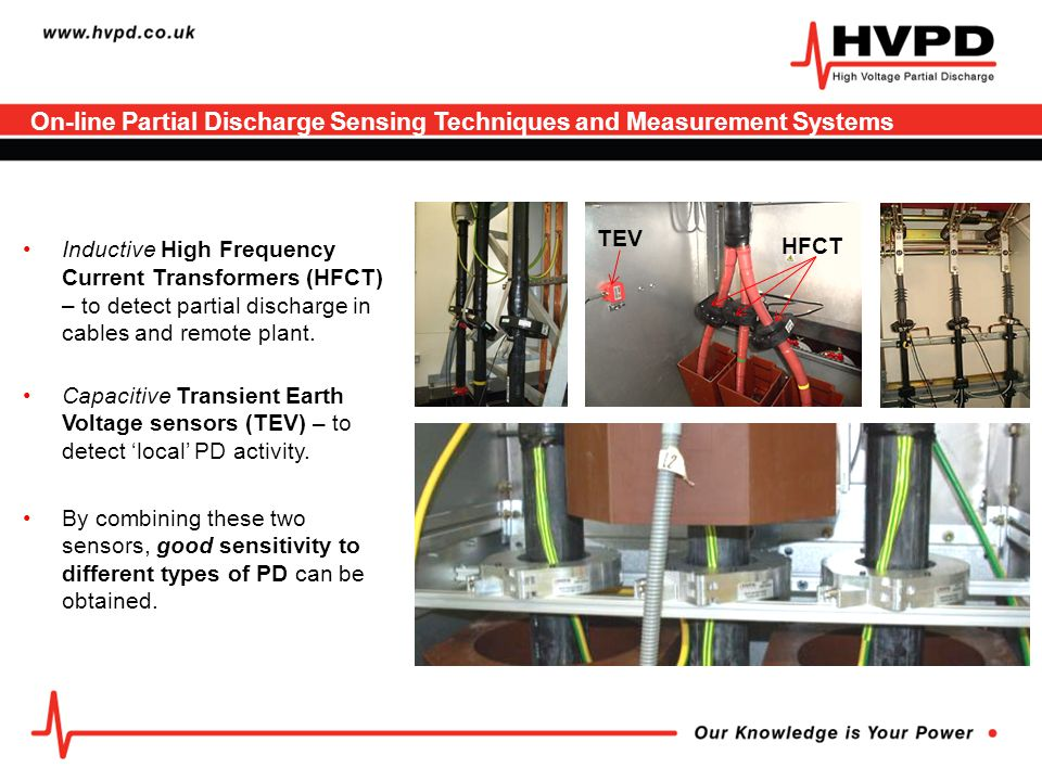 Case Study 1 OLPD Cable Testing, Location, Monitoring with Preventative Maintenance on a 33kV Land-Sea Wind Farm Export Cable A 'Round 1' 90MW Offshore UK Wind Farm The weak points on a land-sea MV/HV export cable susceptible to failure from partial discharge (PD)