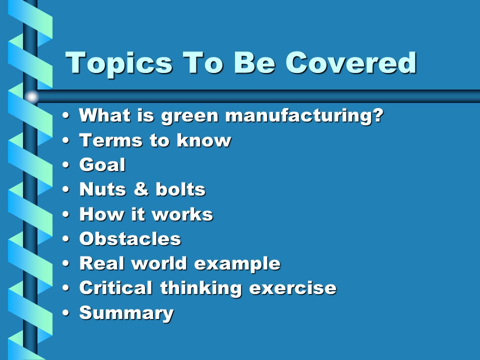 What Is Green Manufacturing.