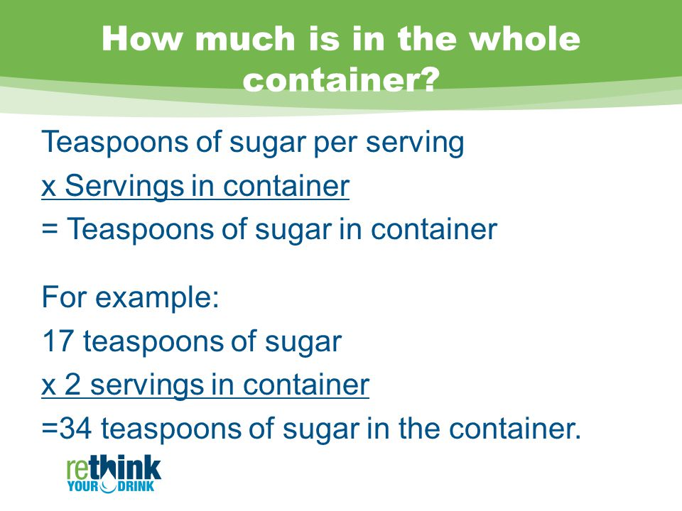 How much is in the whole container.