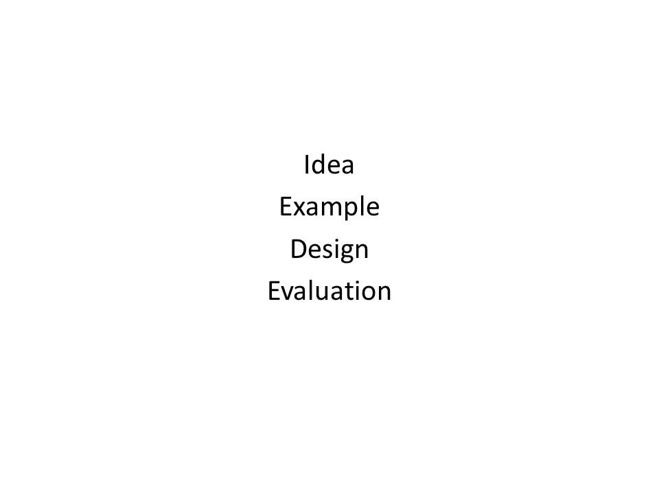 Idea Example Design Evaluation