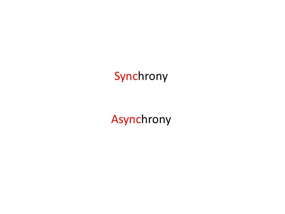 Synchrony Asynchrony