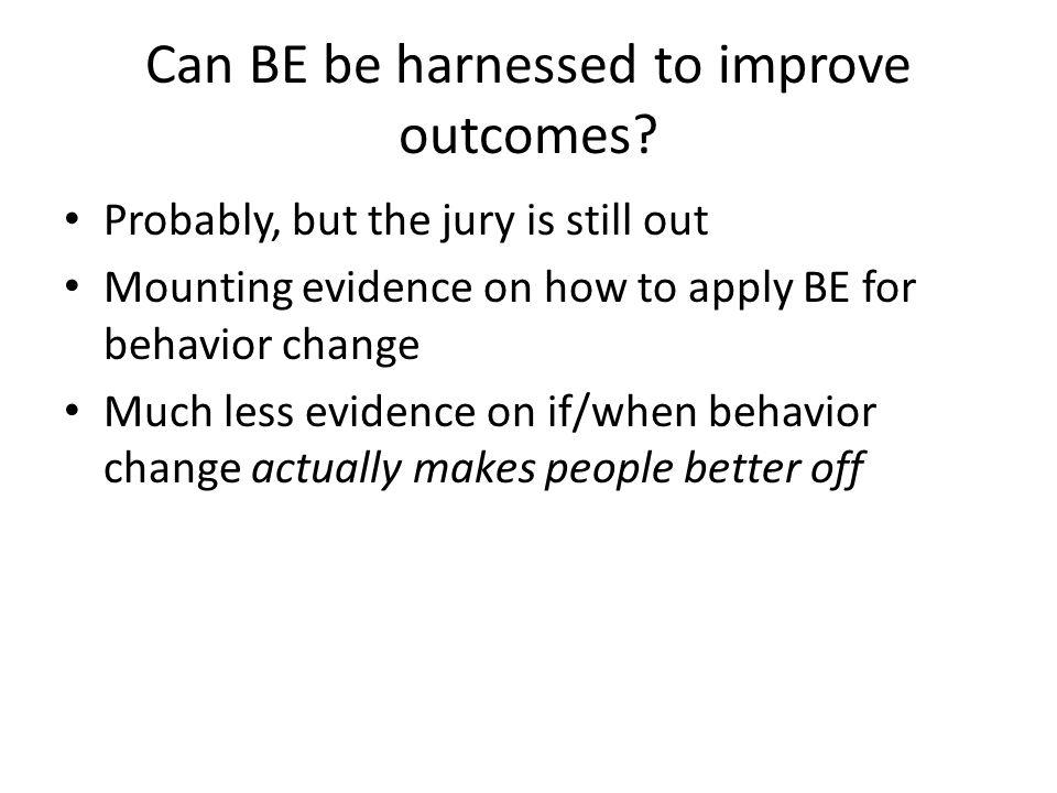 Outcomes-based measurement: Which outcomes.