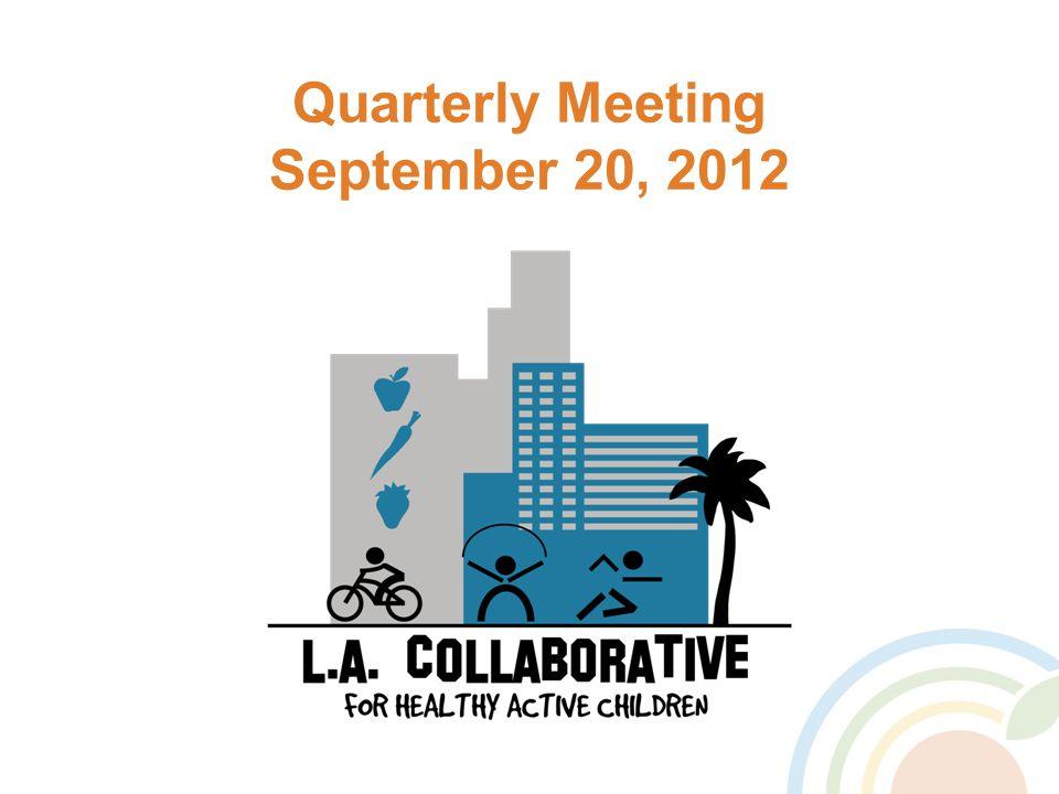 Quarterly Meeting September 20, 2012