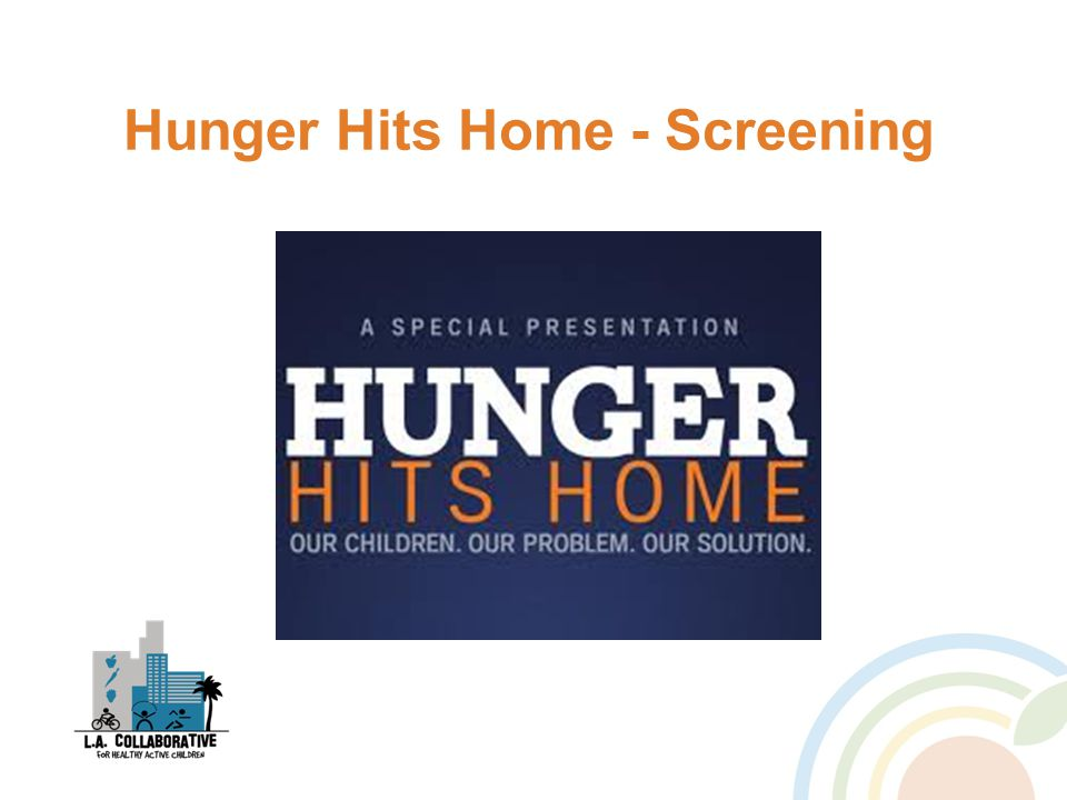 Hunger Hits Home - Screening