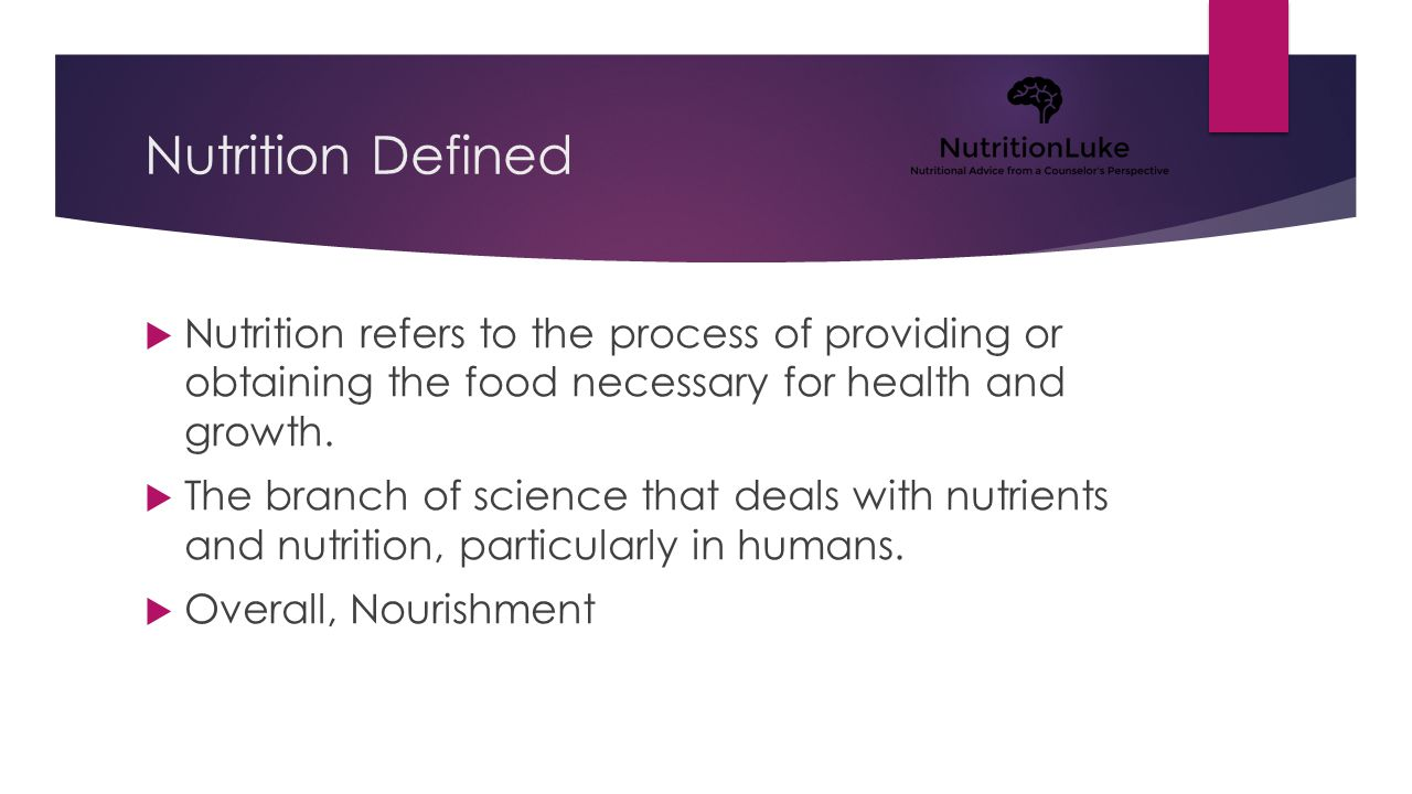 What's nutrition got to do with it.