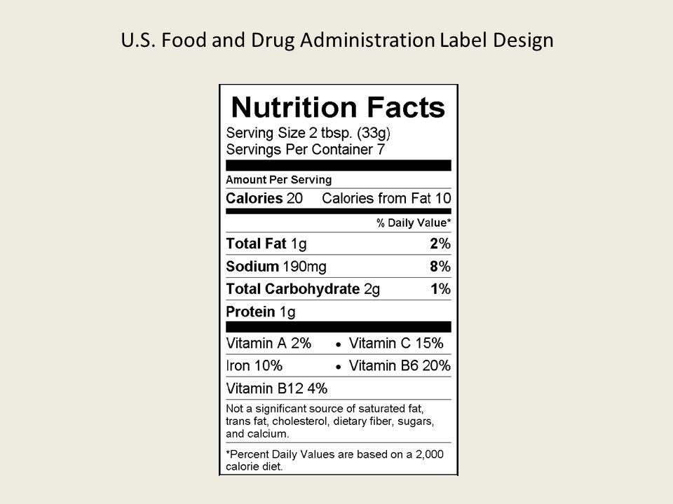 U.S. Food and Drug Administration Label Design