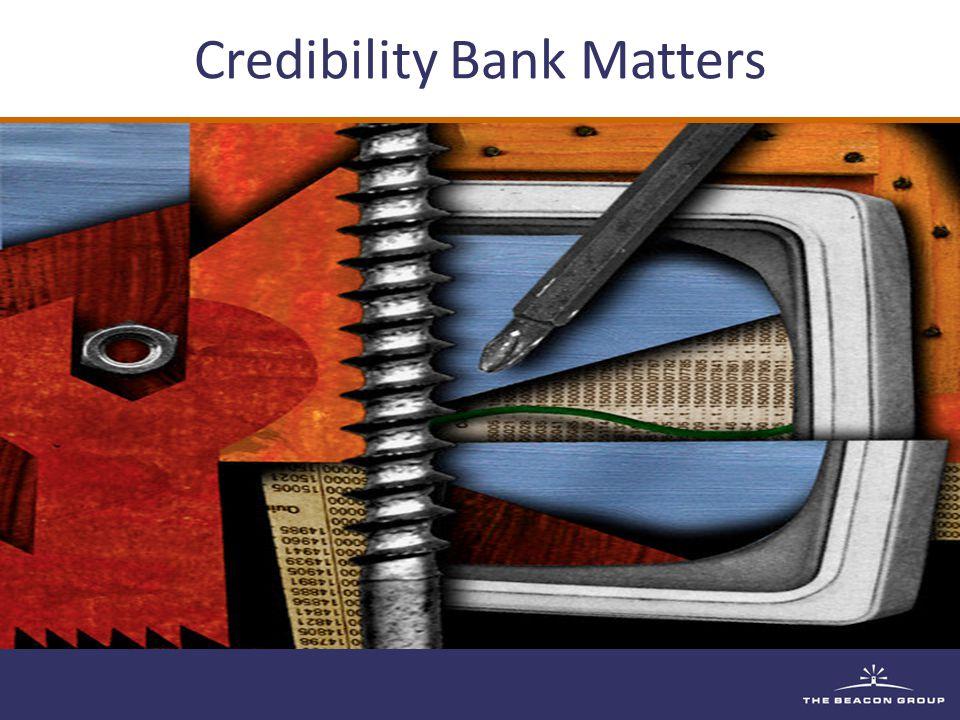 Credibility Bank Matters
