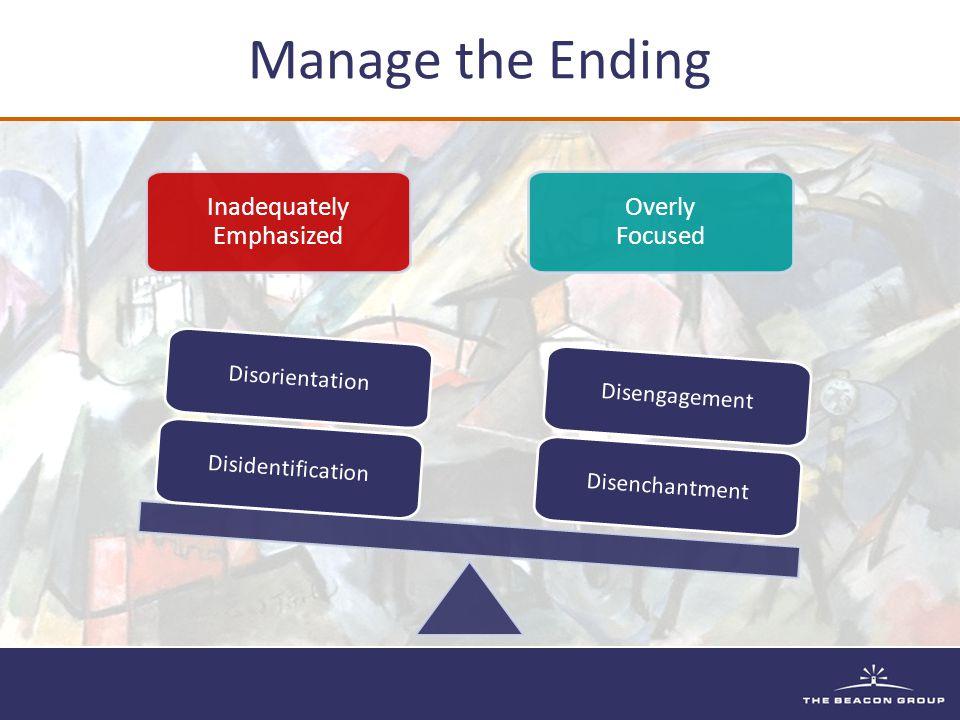 Inadequately Emphasized Overly Focused Disenchantment Disengagement Disidentification Disorientation