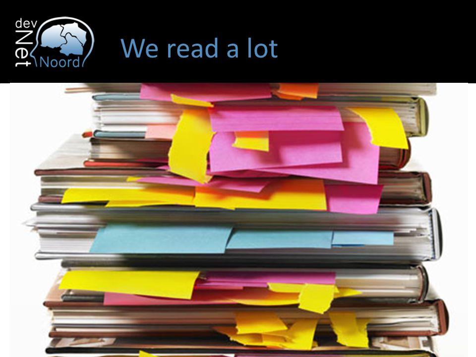 We read a lot
