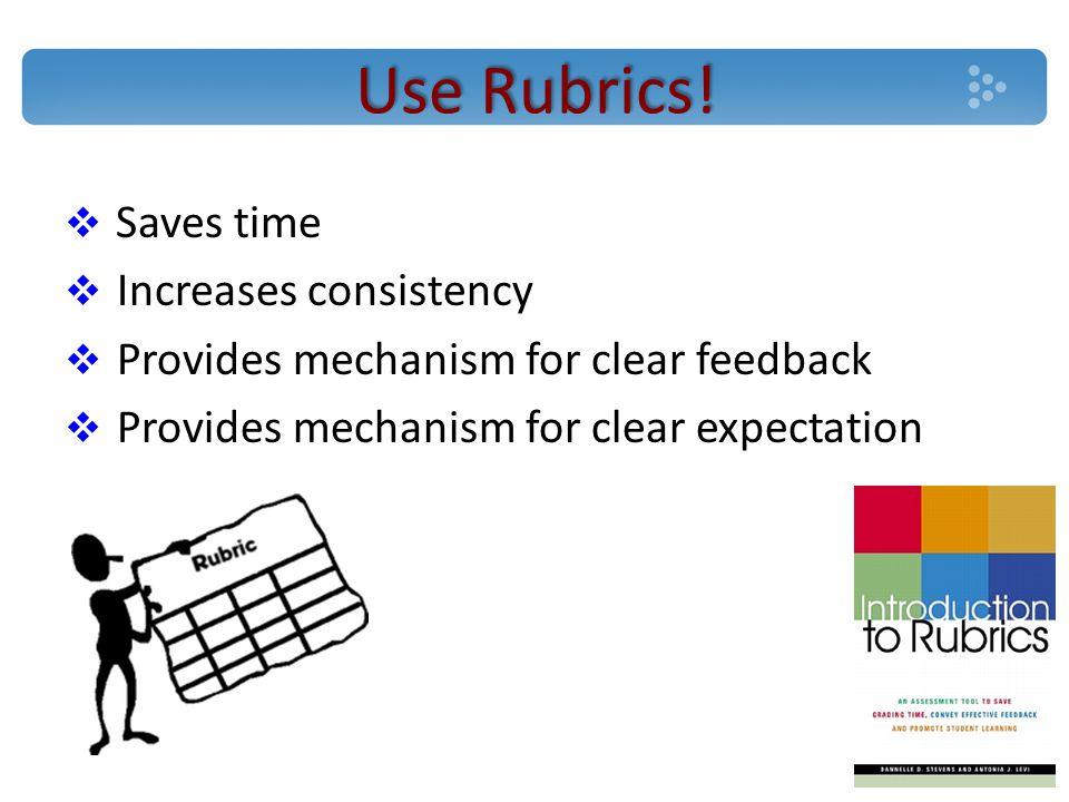 Use Rubrics.