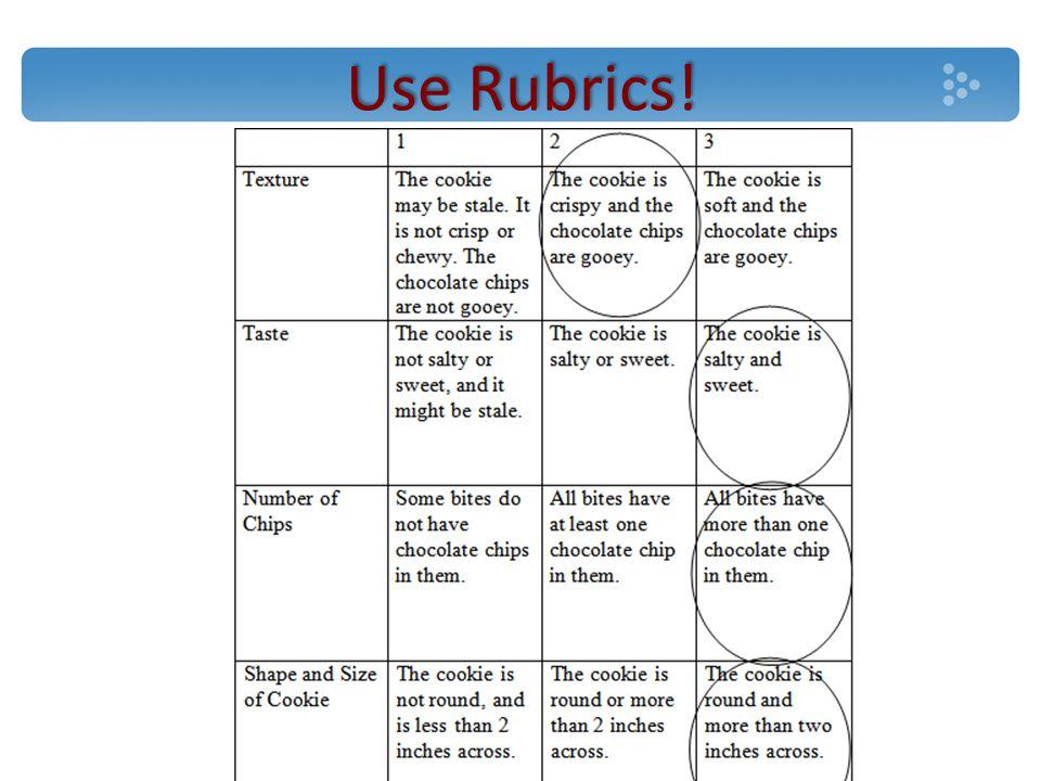 Use Rubrics!