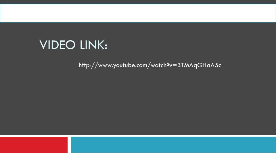VIDEO LINK: http://www.youtube.com/watch?v=3TMAqGHaA5c