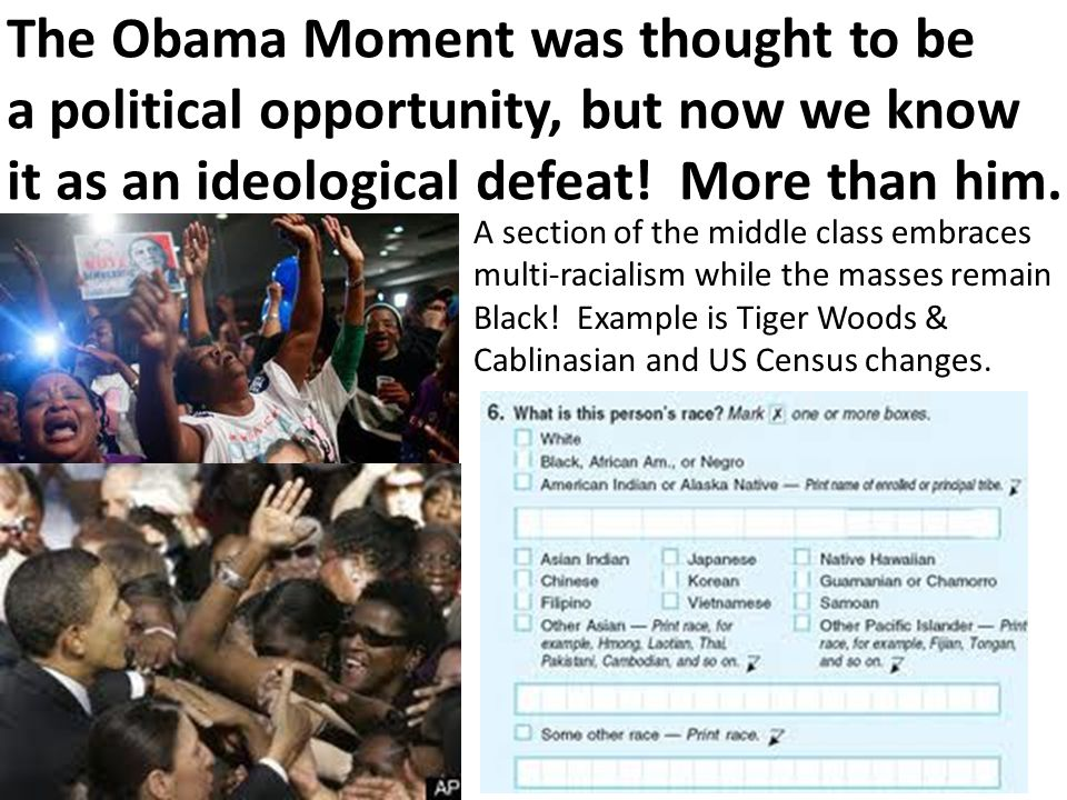 The Obama Moment was thought to be a political opportunity, but now we know it as an ideological defeat.