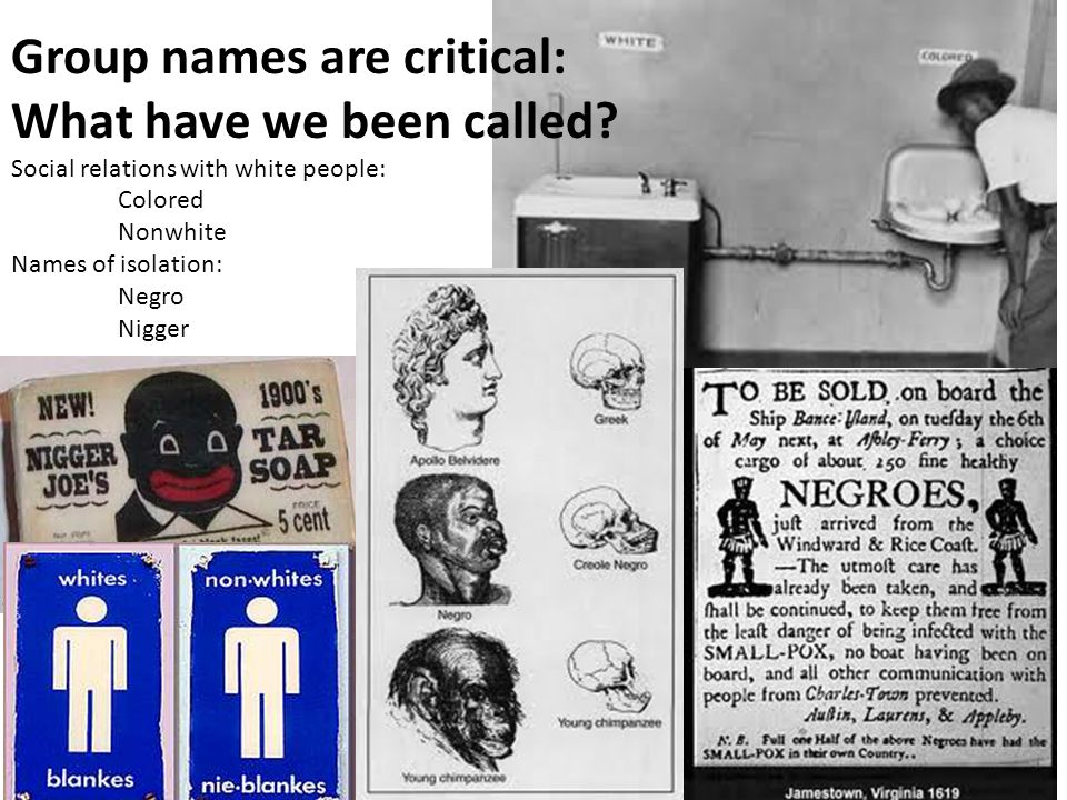 Group names are critical: What have we been called.