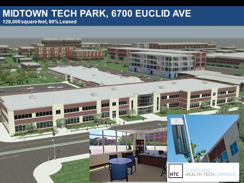 MIDTOWN TECH PARK, 6700 EUCLID AVE 128,000 square feet, 90% Leased