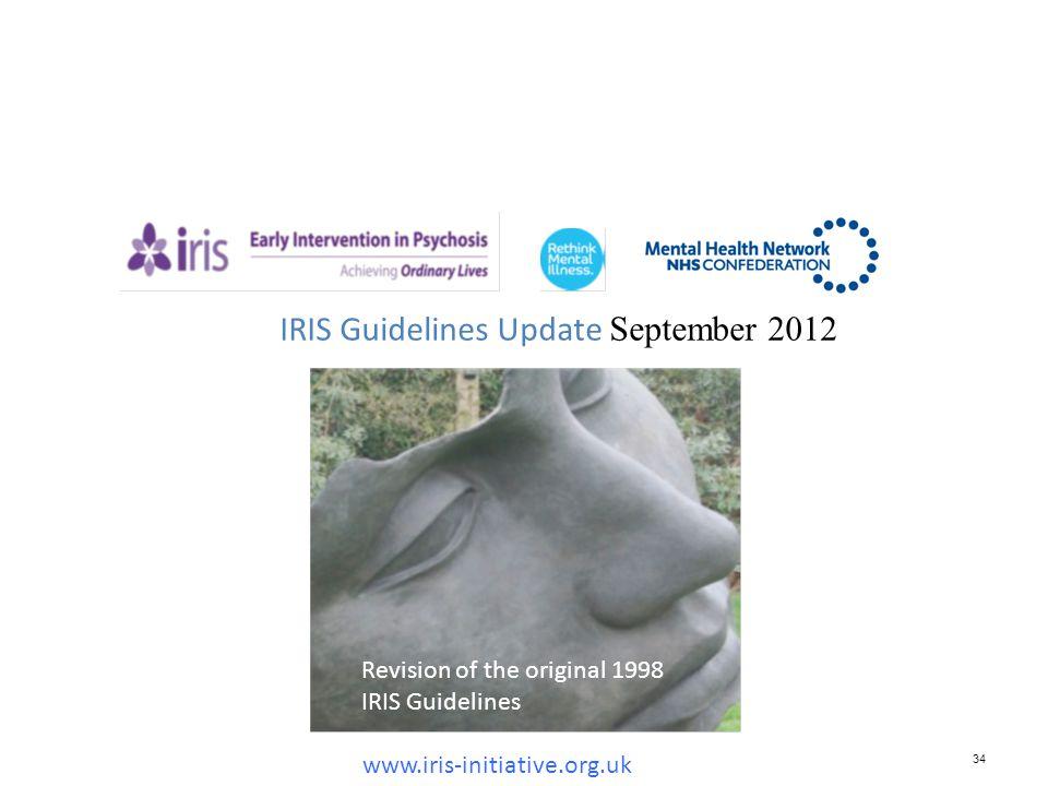 34 IRIS Guidelines Update September 2012 www.iris-initiative.org.uk Revision of the original 1998 IRIS Guidelines