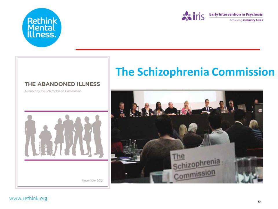 54 The Schizophrenia Commission www.rethink.org