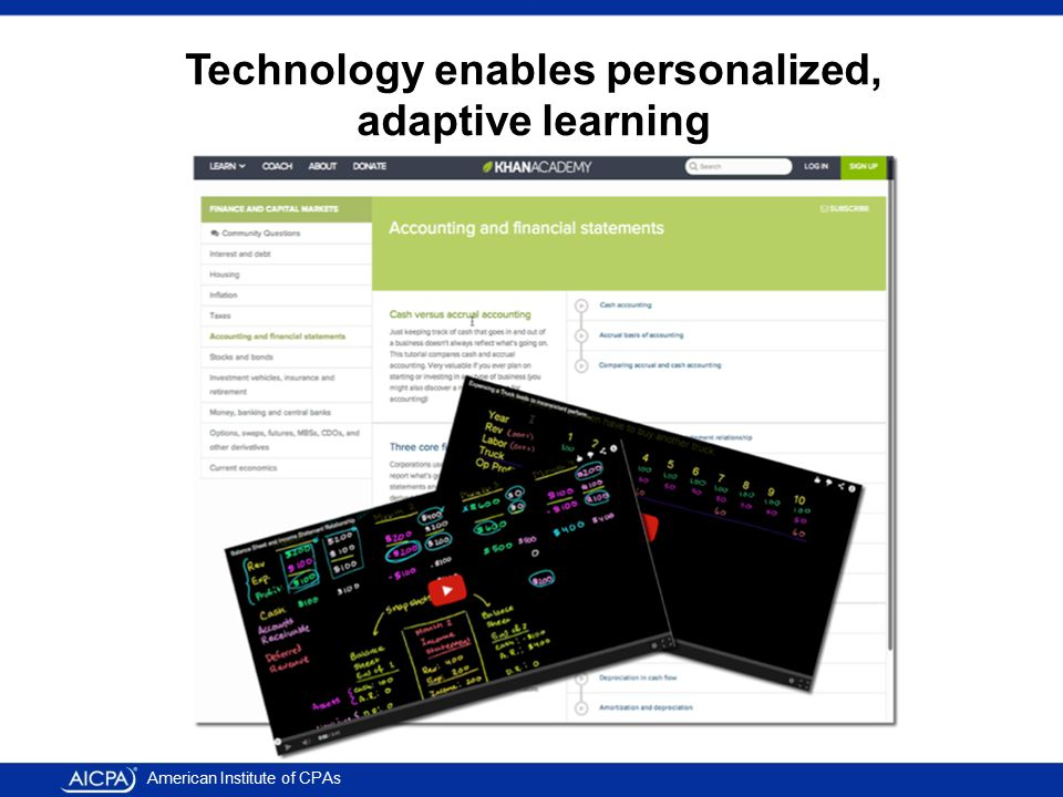 American Institute of CPAs Technology enables personalized, adaptive learning
