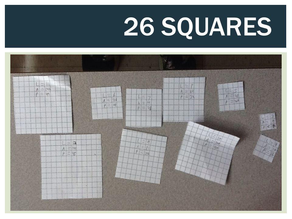 26 SQUARES
